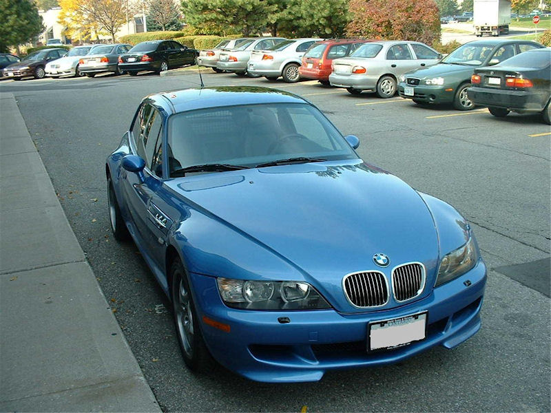 2001 Estoril Blue M Coupe - Production Date: August 9, 2000
